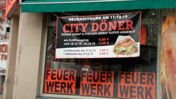 (lokal Berlin) City Döner Eröffnungsangebot für 0,99€ am 17.12.