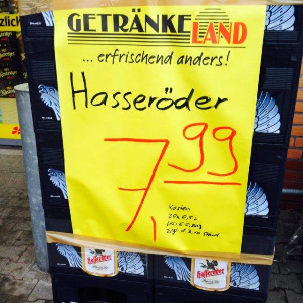 Hasseröder Bier 20x0,5l 7,99€ (Getränkeland 130x im Norden)