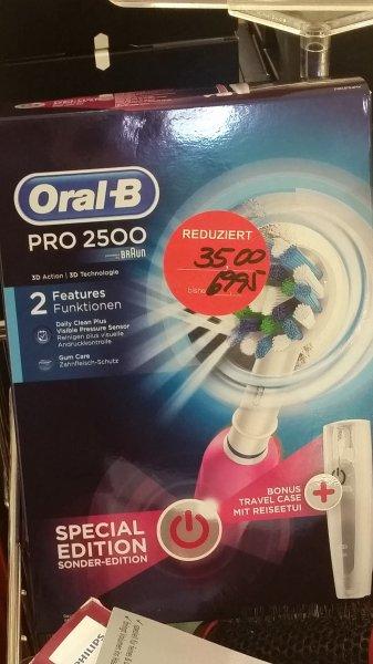 [vermutlich lokal Arnsberg-Neheim] Oral-B Pro 2500 Sonderedition Pink bei Müller - Idealo 45,99 €