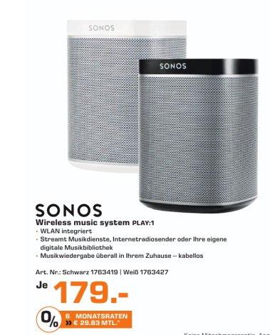 [Saturn Celle (lokal)] Sonos Play:1 179€, Playbar 699€