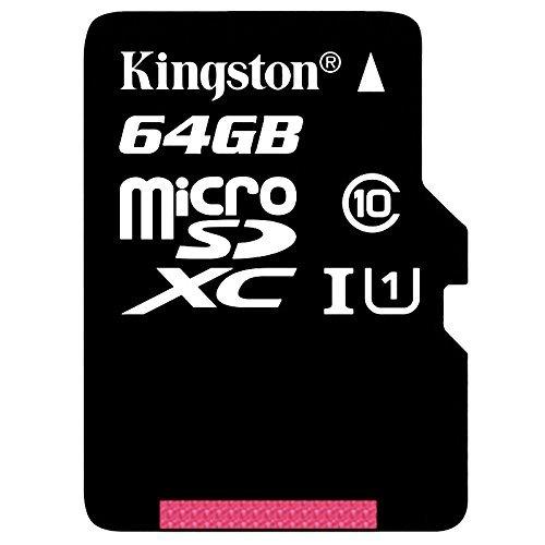 Kingston 64GB microSDXC Klasse 10 bis zu 45MB/s Speicherkarte [mit SD-Adapter] für 15,10 € > [bax-shop.de] > Vsk frei