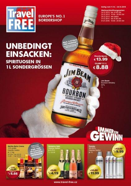 [TravelFree] 1 Liter Jim Beam zum Bestpreis - Nahe Tschechische Grenze
