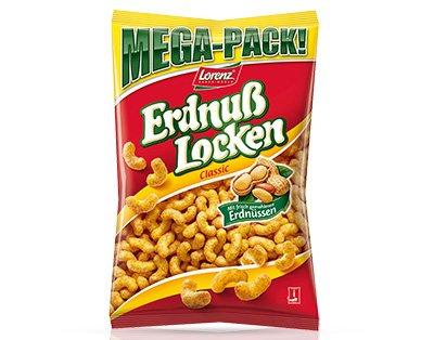 (Aldi Nord)Lorenz Mega Pack Erdnuß Locken 350 gramm für 1,29€