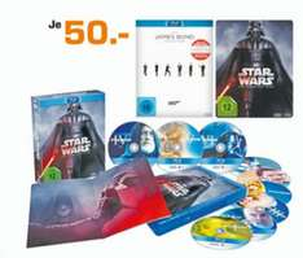 [Saturn - Dessau-Roßlau] Star Wars Complete Saga & The James Bond Collection (Blu-Ray) je 50€ / 16.12.-20.12.