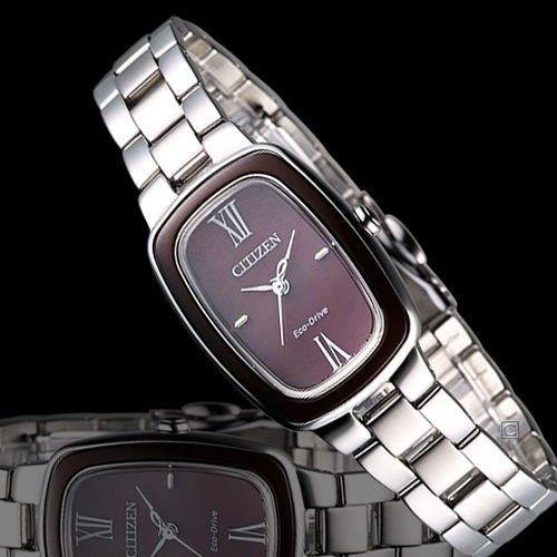 [Amazon.de-Prime]  Damen-Armbanduhr XS Citizen L Analog Quarz Edelstahl EM0006-53W  / Eco-Drive (Solar) und Saphirglas 180 Tage Dunkelgangreserve