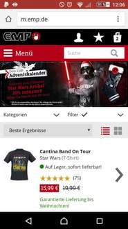 EMP.de 20% auf Star Wars Merch