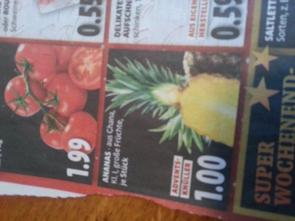 Ananas aus Ghana bei Tengelmann
