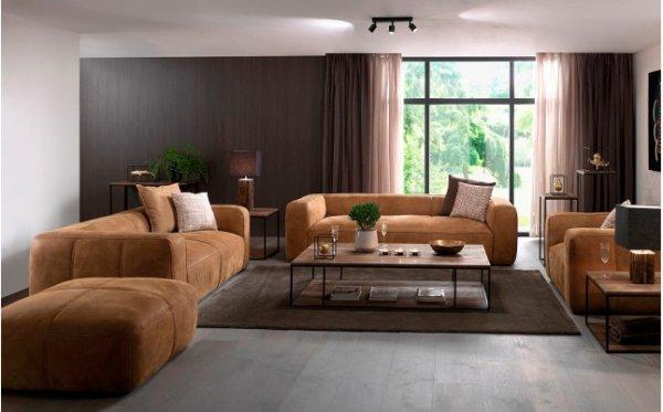 3 -Sitzer Sofa Echtleder von 2599 auf 1818,99€ inkl. Versand und Aufbau - Naturbelassenes Echtleder - Daunen Kassettenfüllung - Komplettpolsterung
