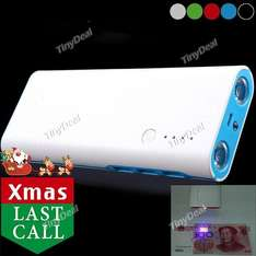 Powerbank 20000mAh 3 USB Ports Power Bank Charger w/ Flashlight/UV Light Tinydeal 9,03€
