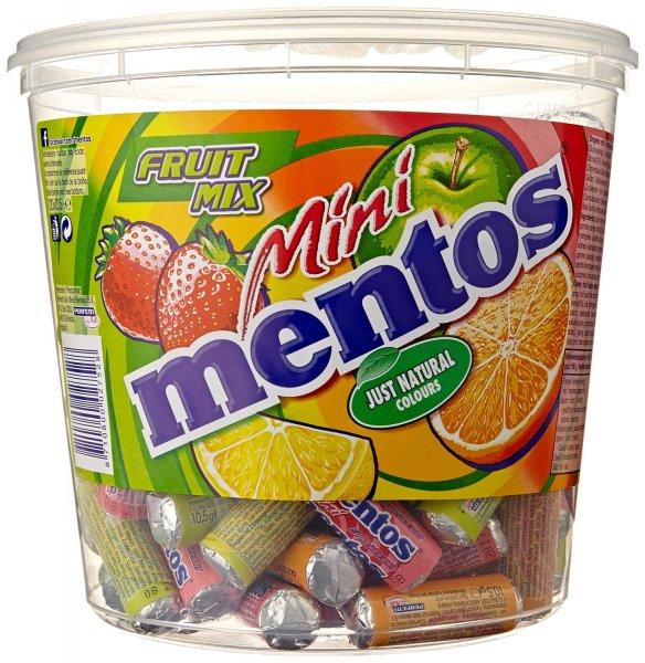 Amazon Mini Mentos Frucht Mix Dose, 1er Pack (120 x 10,5 g) 10,59€