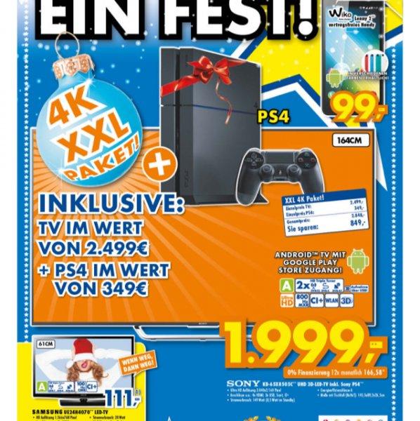 Sony KD-65X8505C UHD inkl PS4