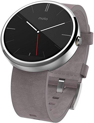 [Amazon WHD] Moto 360 1. Gen graues Lederarmband - Gebraucht: sehr gut