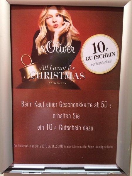 60€ für 50€ Aktion bei s.Oliver Outlets