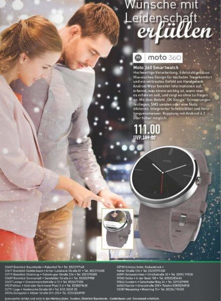 Motorola Moto 360 Smartwatch für 111,00 EUR anstatt ab 149,00 EUR