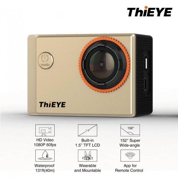 ThiEYE I60 1080p 60fps / 720p 120fps 152° Weitwinkel WiFi Action Cam für 134,00€ bei amazon.de