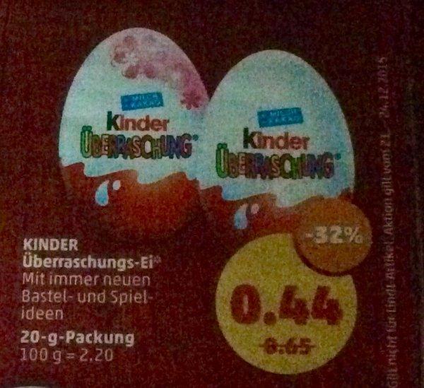 (Penny)Kinder Überraschungs-Ei für 0,44€