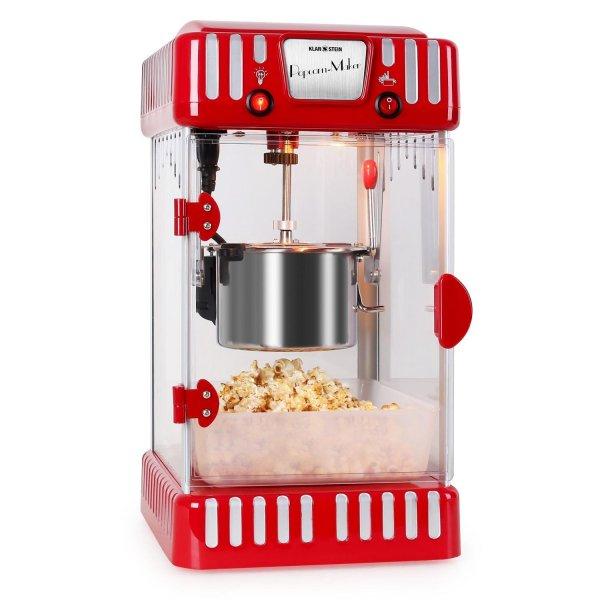 [Elektronik-Star] Klarstein Volcano Popcornmaschine 300W Rührwerk Edelstahl-Topf rot