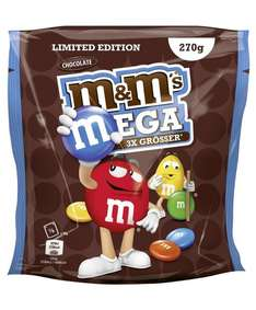 [Amazon] M&M's MEGA Chocolate - Limited Edition | 3x größere Linsen | 5x 270g Beutel