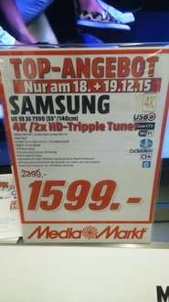[Lokal MM Mainz] UE 55 JU 7590 für 1599€