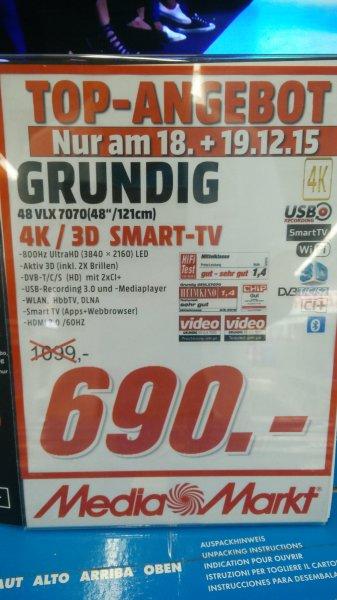 [Lokal MM Mainz] Grundig 48 VLX 7070 800HZ 4K, 3D TV für 690€