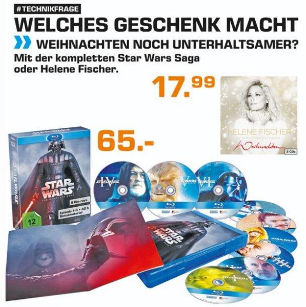[lokal Saturn Stuttgart, Freiburg, evtl. BW] Star Wars - The Complete Saga Blu Ray für 65€