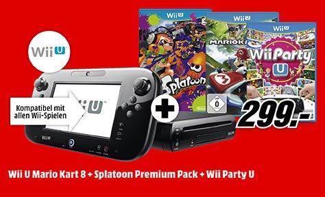[lokal] Wii U mit 3 Spielen für 299 € Media Markt Düsseldorf Metro / ONLINE mit Versandkosten
