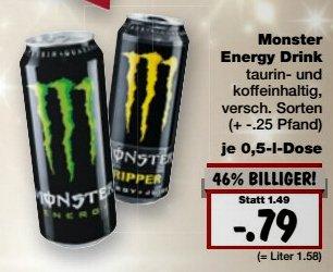 [Kaufland Bayern?] MONSTER Energy Drink nur 0,79 €