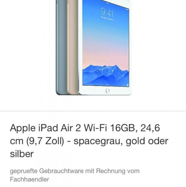 iPad Air 2 WiFi 16gb *Vom Hersteller General überholt*