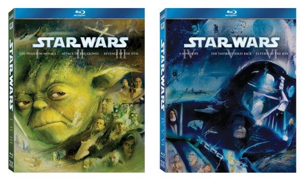 Star Wars 1 - 6 (2 Triologie Boxen) auf Blu-Ray bei Thalia für 59,34€
