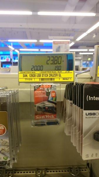 [Lokal?] SanDisk Cruzer Glide 128GB für 23,80€ bei Metro