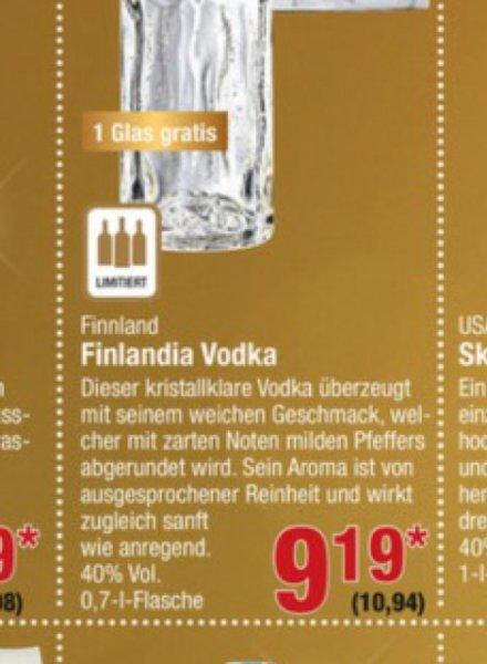 Finlandia Vodka 0,7 für 10,94