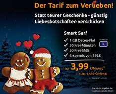 Crash Handytarif 3,99€ 50 min./50sms 1GB Datenflat
