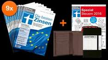 Finanztest: 9 Monatsabo für 25 Euro + Geschenk