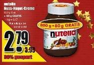 880g Nutella für 2,79 € bei diska (100x in Nordbayern, Sachsen und Thüringen)