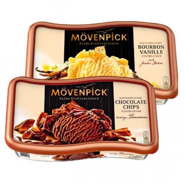 [REAL BUNDESWEIT] Mövenpick Eis versch.Sorten 900/850-ml für 0,99€ (Angebot+Scondoo)