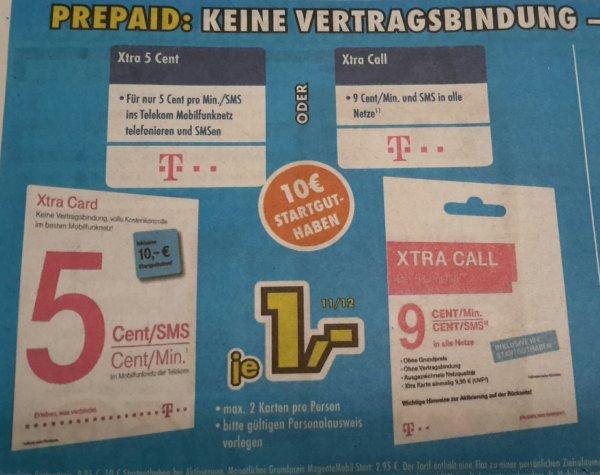 Xtra Card mit 10€ Startguthaben für 1€ @EURONICS XXL Waldbröl (offline)