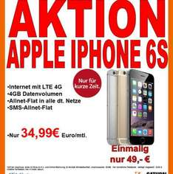 O2 Blue L mit iPhone 6s für 35€ Pro Monat!