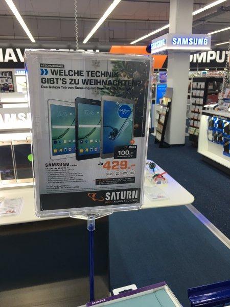 Samsung Tab S2 Wifi 329€ / LTE 399€ Saturn Dortmund Eving
