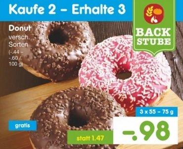 [Netto ohne Hund] 3 Donuts für 98 Cent