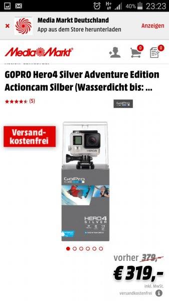 Go Pro Hero 4 Silver bei Media Markt Online