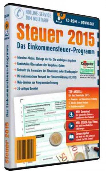 [Aldi Süd/Nord] Steuer 2015 CD-ROM (entspricht t@x 2016, nur ohne Fahrtenbuch)