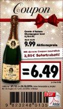 (Kaufland) Comte d' Aulone Champagne Brut 0,75L 6,49€