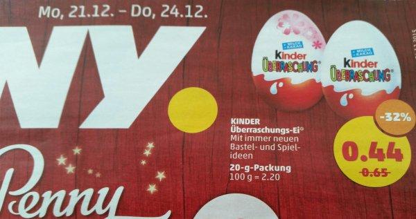 Kinder Überraschung - Kinder Überraschungs-Ei - für 0,44 Euro - 32% günstiger