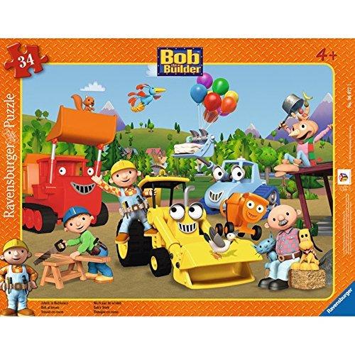 [Amazon Prime] RAVENSBURGER Rahmenpuzzle - Bob der Baumeister: Arbeit in Bobhausen, 34 Teile für 3,25€