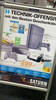 [Saturn München] PS4 500GB Neue Revision +Uncharted Nathan Drake Collection + 3 Monate Playstation Plus 299€