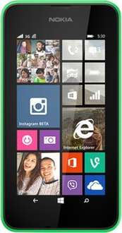 "[@NBB] Nokia Lumia 530 grün EU, Windows Phone 8.1, 1,2GHz CPU, 10,2cm (4"") LCD Display, 5 MP Kamera, DualSim"