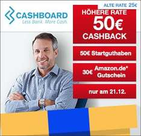 [Qipu] Cashboard: Nur Heute - 50€ Cashback + 50€ Startguthaben + 30€ Amazon.de-Gutschein