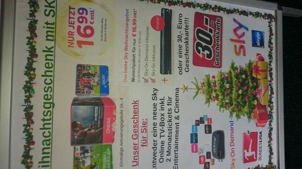 SKY ALL-IN inkl. HD für mtl. 35,99 € + 30€ Media Markt Gutschein