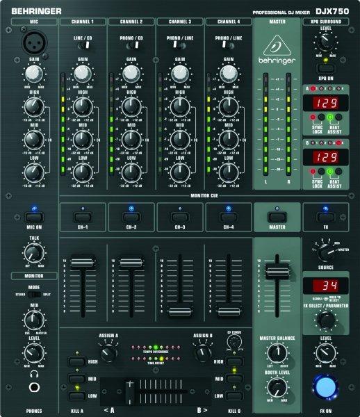 Behringer DJX750 Pro Mixer 5-Kanal DJ Mixer [AMAZON WHD]
