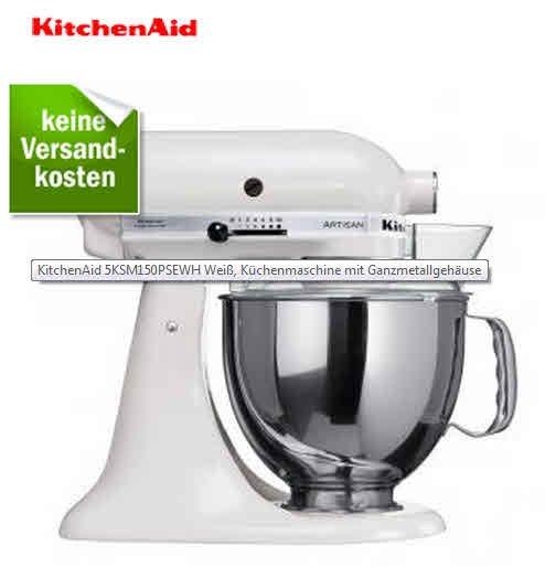 Bestpreis für Küchenmaschine Kitchenaid Artisan 5KSM150PS (weiß) für 329,20€ statt 407,98€ @redcoon